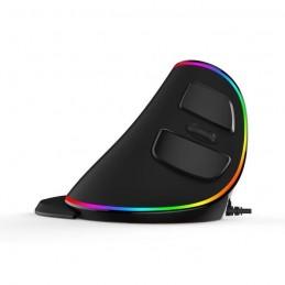 DELUX M618 PLUS RGB Souris Verticale Ergo Noire filaire USB - Droitier