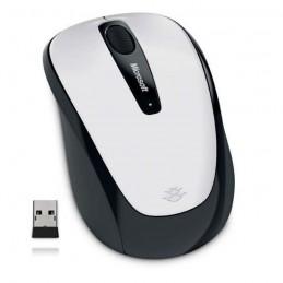 MICROSOFT Mobile Mouse 3500 Blanc Souris sans fil 2.4 GHz - récepteur USB