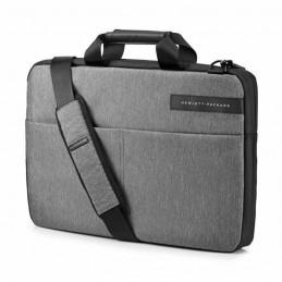 HP Sacoche pour ordinateur portable 17.3'' - Signature Slim Topload - Gris / Noir - vue de trois quart