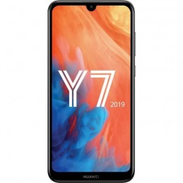 "HUAWEI Y7 2019 Noir Smartphone 6.26"" 32 Go 13 Mp - Android 8.1 Oreo - vue de face"