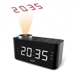 INOVALLEY RV18 Noir Radio-réveil - projection de l'heure