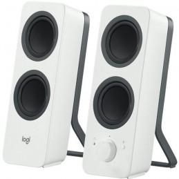 LOGITECH Z207 Blanc Enceintes Ordinateur 5W Haut-Parleurs - Bluetooth - jack 3.5mm - vue de trois quart