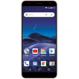 "LOGICOM Le Moov 2 Rose OR Smartphone 5.45"" - 8MP - 16 Go - Android 8.1 - vue de face"