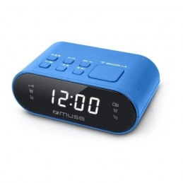 MUSE M-10 BL Radio réveil PLL Bleu - horloge 24h - 20 stations