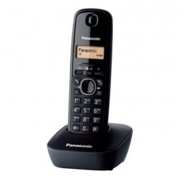Panasonic KX-TG1611FRH Solo Noir Téléphone Sans Fil - sans répondeur