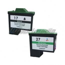 Lexmark N° 17 + 27 Multipack Compatible