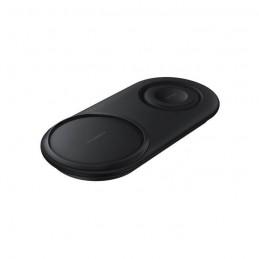 SAMSUNG Chargeur Induction DUO Noir - USB type - chargeur inclus - vue de trois quart