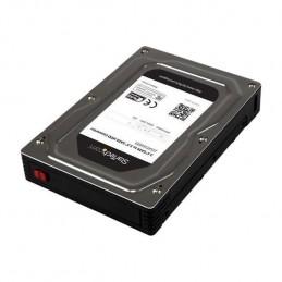 STARTECH Boitier Adaptateur en Aluminium pour DD / SSD SATA 2.5'' vers 3.5'' jusqu'a 12.5 mm (25SAT35HDD) - vue de trois quart