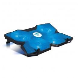 "SPIRIT OF GAMER AirBlade 500 Blue Refroidisseur PC 17"" - Quadruple ventilateurs LED - Noir / Bleu"
