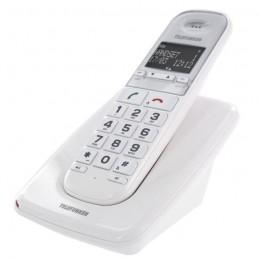 TELEFUNKEN TELEPHONE DECT SOLO SENIOR GROSSES TOUCHES TD 301 COMPATBILE APPAREIL AUDITIF MAINS LIBRES BLANC