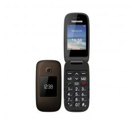 TELEFUNKEN TM260 COSI Téléphone mobile GSM senior grosses touches - Marron - vue de face