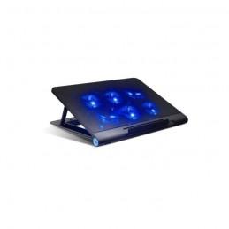 """ADVANCE AirStream PRO Refroidisseur PC 18""""- 6 ventilateurs LED - Noir - vue gauche"""