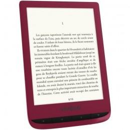 """VIVLIO Touch Lux 4 LISEUSE NUMÉRIQUE 6"""" ROUGE + smart cover + pack d'ebooks OFFERT - vue de face trois quart"""