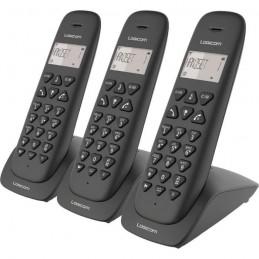 LOGICOM VEGA 335T TRIO Noir Triple TÉLÉPHONE SANS FIL TRIO avec répondeur