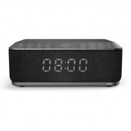 BIGBEN RR140IG RADIO RÉVEIL GRIS - USB - CHARGEUR SANS FIL PAR INDUCTION INTÉGRÉ - vue de face