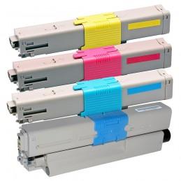 TR-C301PACK COMPATIBLE OKI C301 / C321 NO-OEM PACK BK/C/M/Y TONER LASER