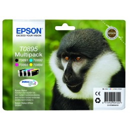 "EPSON T0895 Pack BK/C/M/Y Serie ""Singe"" pour S20, SX110, SX205, SX400 ..."