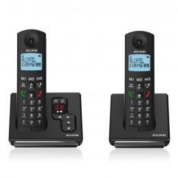 ALCATEL F690 Duo Noir Téléphone Sans Fil DECT avec Répondeur