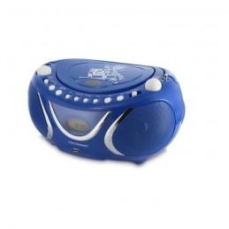 METRONIC 477132 Bleu Radio FM / CD / MP3 square - Ecran LCD