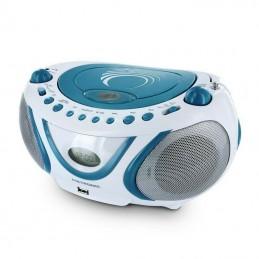 METRONIC 477115 Radio FM / CD / MP3 - WAVE - Bleu et Blanc