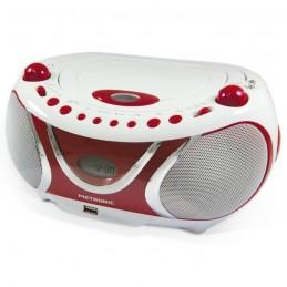 METRONIC 477117 Radio FM / CD / MP3 Cherry - Blanc et Rouge