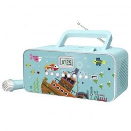 MUSE M29KB Radio CD MP3 FM - Port USB - Prise auxilliaire - Turquoise
