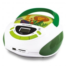 METRONIC 477144 Radio FM / CD enfant style Jungle - vert et blanc