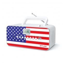 MUSE M-28 Style US - Radio lecteur CD / MP3 / FM - Port USB