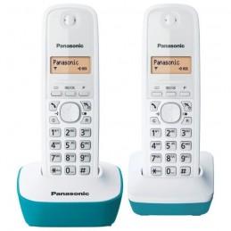 PANASONIC KX-TG1612FRC Duo Téléphone Sans Fil Sans Répondeur - Blanc et Bleu