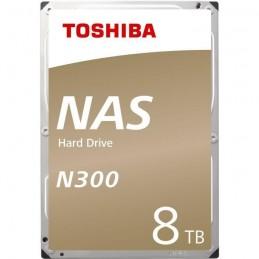 """TOSHIBA 8To N300 HDD 3.5"""" SATA3 7200 tr/min - (HDWN180EZSTA) - vue de trois quart"""