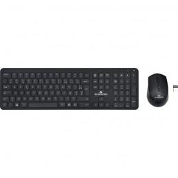 BLUESTORK Pack clavier souris sans fil Noir - SLIM
