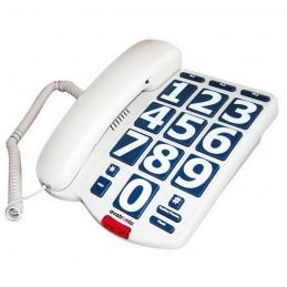 VITAEASY Téléphone fixe grosses touches - malvoyant - écoute amplifiée - Blanc