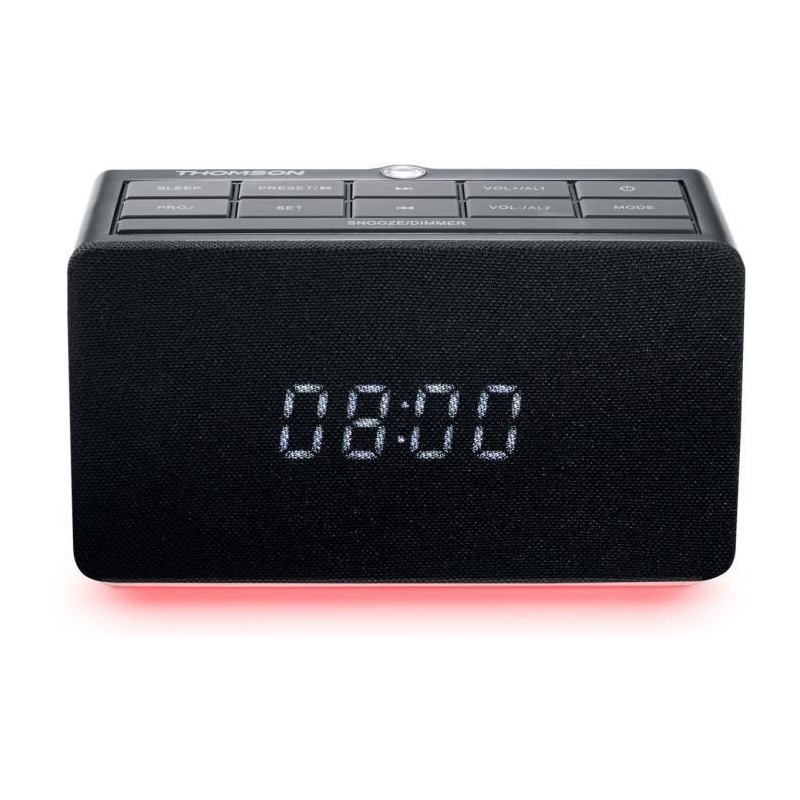 THOMSON CL300P Radio réveil - Projection heure - Double alarme - USB