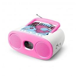MUSE M-20 KDG Radio CD kids - AM/FM - Lecteur CD programmable - rose / blanc