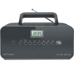 MUSE M-28 DG Radio / CD portable - USB - Noir