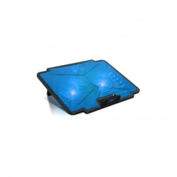 "SPIRIT OG GAMER AirBlade 100 Blue Refroidisseur PC portable 15.6"" - Double ventilateurs LED - Noir / Bleu"