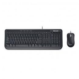 MICROSOFT Wired Desktop 600 Noir Pack Clavier AZERTY et souris filaire USB