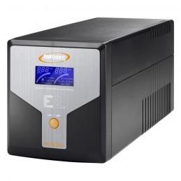 INFOSEC UPS SYSTEM Onduleur E2 LCD 1000 Onduleur 1000VA - 4 prises