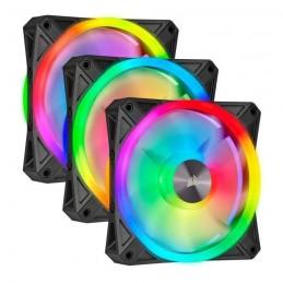 CORSAIR QL120 RGB Pack 3 Ventilateurs 120 mm - Fan Kit RGB + Lighting Node CORE (CO-9050098-WW)