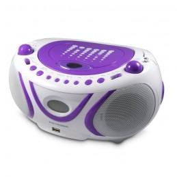 METRONIC 477112 Radio CD / Mp3 / Port USB - Blanc / Violet (Pop Purple)