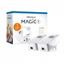 DEVOLO Magic 1 Lan Starter Kit - Pack de 2 adaptateurs CPL 1200 Mbps - prise 220V